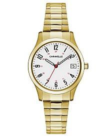 Caravelle Designed by Bulova  Women's Gold-Tone Stainless Steel Bracelet Watch 30mm