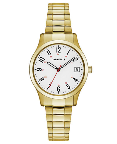 Caravelle Women's Gold-Tone Stainless Steel Bracelet Watch 30mm