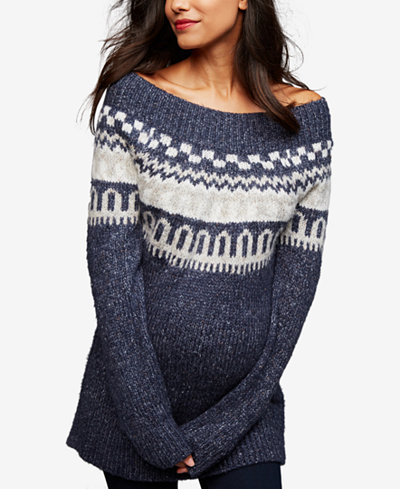 A Pea In The Pod Maternity Off-the-Shoulder Sweater