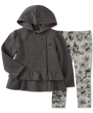 Calvin Klein 2Pc Hooded Jacket  Leggings Set Little Girls (46X)