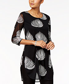 Alfani Embroidered Tunic, Created for Macy's