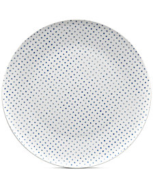 Noritake Blue Hammock Coupe Dots Dinner Plate, Created for Macy's