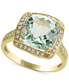 Final Call by EFFY® Green Amethyst (4-1/3 ct. t.w.) & Diamond (1/5 ct. t.w.) Ring in 14k Gold