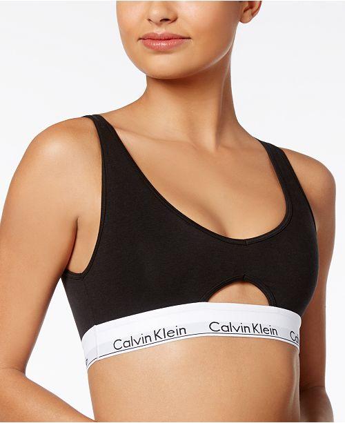 Calvin Klein Logo-Band Cutout Bra QF4813