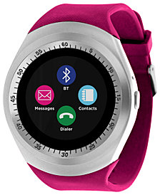 iTOUCH Unisex Curve Fucshsia Silicone Strap Touchscreen Smart Watch 44m