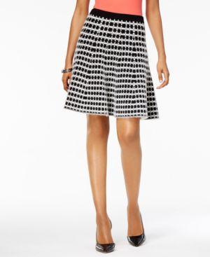 Olivia & Grace Jacquard Fit & Flare Skirt thumbnail