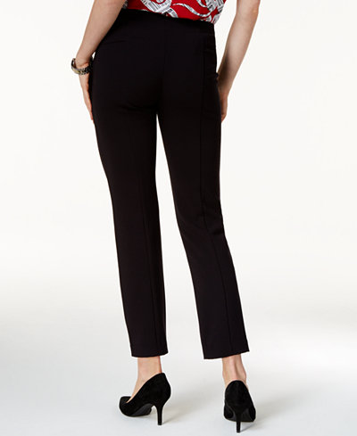 Alfani Petite Comfort-Waist Slim-Leg Pants, Created for Macy's