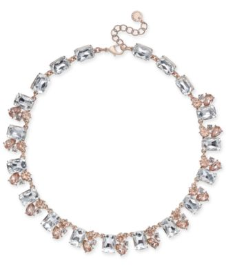Gold-Tone Crystal Collar Necklace, Created for Macy's