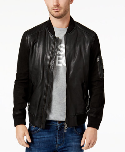 Hugo Boss Men S Leather Jacket Coats Amp Jackets Men