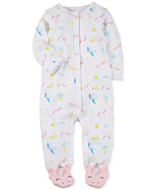 Carter's Baby Girls Unicorn-Print Cotton Footed Coverall