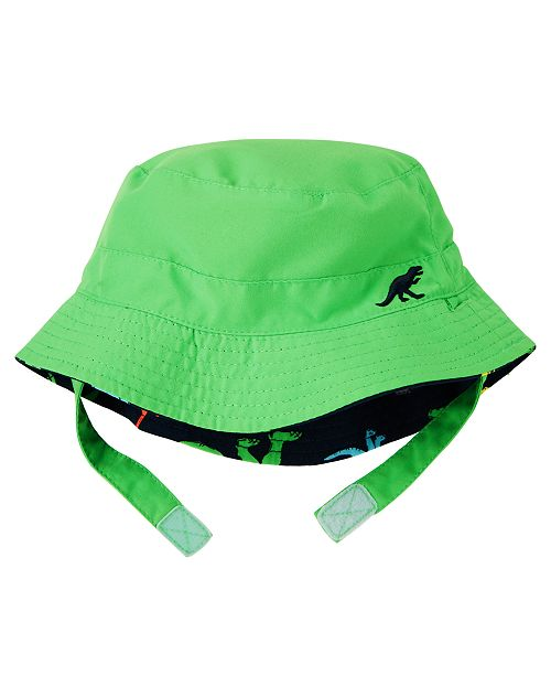353059ae Carter's Reversible Dinosaur-Print Bucket Hat, Baby Boys & Reviews ...