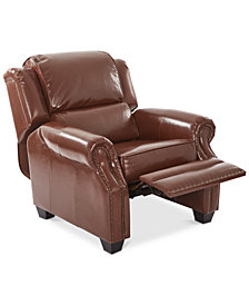 Faber Leather Recliner, Quick Ship