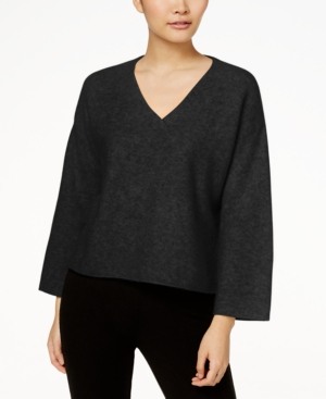 Eileen Fisher Cashmere-Blend V-Neck Box Sweater