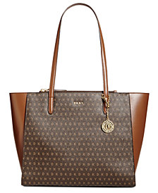 DKNY Double-Zip Signature Tote, Created for Macy's