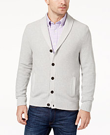 Brooks Brothers Red Fleece Men's Seed Stitch Shawl-Collar Cardigan