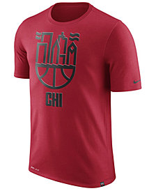 Nike Men's Chicago Bulls Dri-FIT Driblend Cityscape T-Shirt
