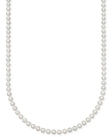 A Cultured Freshwater Pearl Strand Necklace (7-1/2-8-1/2mm) in 14k gold