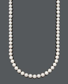 "Belle de Mer AA+ 36"" Cultured Freshwater Pearl Strand Necklace (10-1/2-11-1/2mm) in 14k Gold"