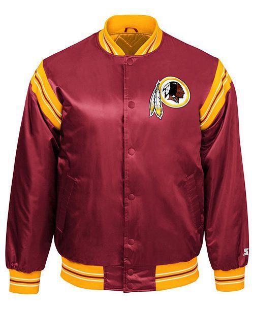 b38eccd5a Starter Men s Washington Redskins The Enforcer Satin Jacket - Sports ...