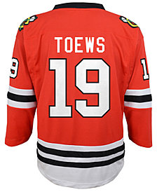 Authentic NHL Apparel Johnathan Toews Chicago Blackhawks Player Replica Jersey, Big Boys (8-20)