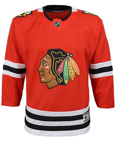 Authentic NHL Apparel Chicago Blackhawks Premier Blank Jersey, Big Boys (8-20)