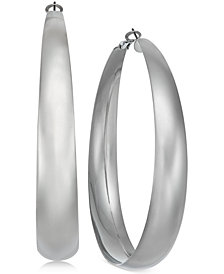 "Thalia Sodi Silver-Tone Extra Large 3"" Hoop Earrings, Created for Macy's"