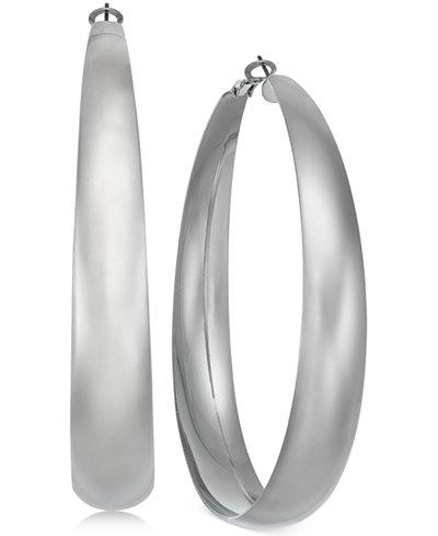 Thalia Sodi Silver-Tone Wide Hoop Earrings, Created for Macy's