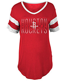5th & Ocean Women's Houston Rockets Hang Time Glitter T-Shirt