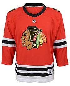 Chicago Blackhawks Blank Replica Jersey, Toddler Boys