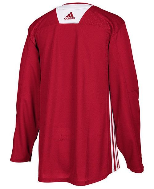 628b061dd adidas Men s Detroit Red Wings Authentic Pro Practice Jersey ...