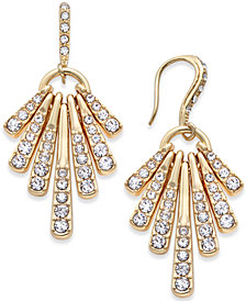 I.N.C. Gold-Tone Pavé Shaky Drop Earrings, Created for Macy's