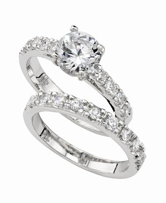 Charter Club Ring Set Cubic Zirconia Engagement 3 Ct T W