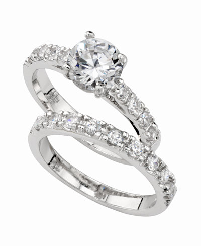charter club ring set cubic zirconia engagement 3 ct tw - Cubic Zirconia Wedding Rings