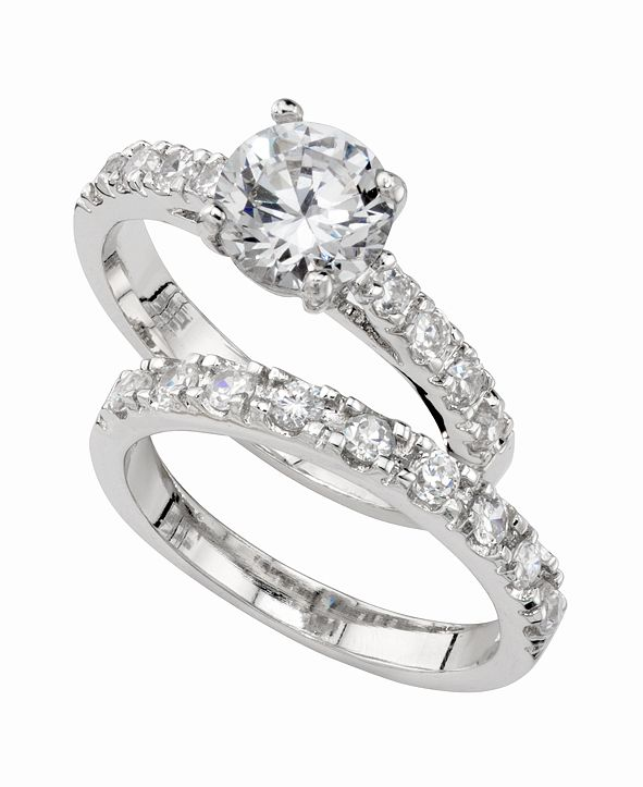 Charter Club Cubic Zirconia (3 ct. t.w.) Engagement Ring Set