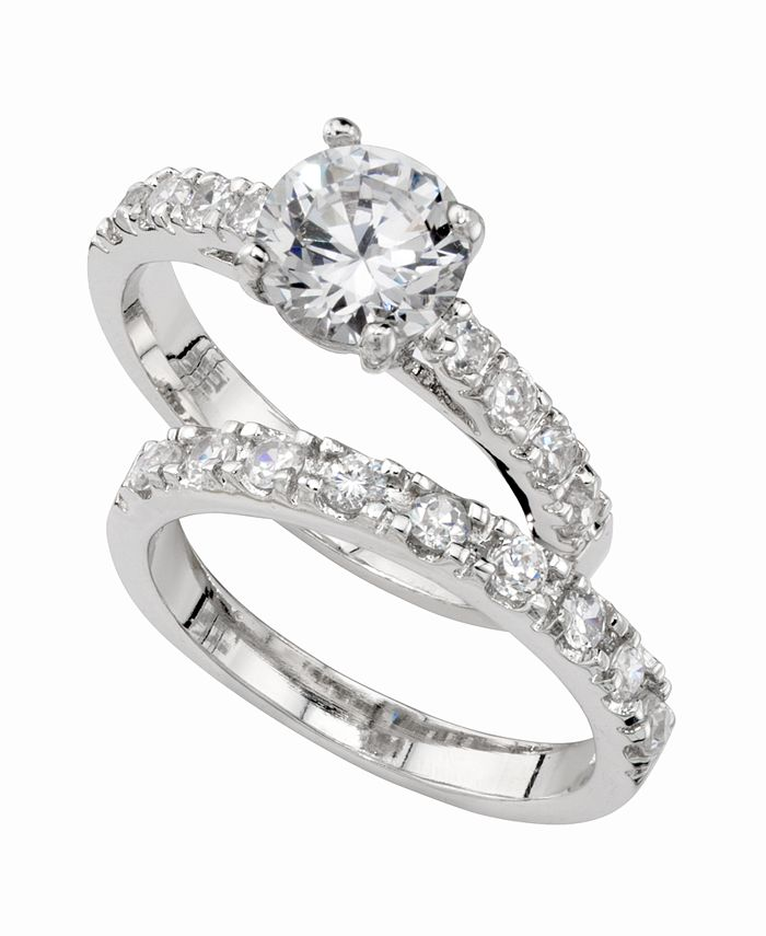 Charter Club - Ring Set, Cubic Zirconia Engagement (3 ct. t.w.)