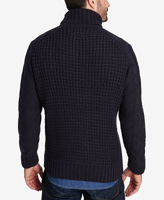 Weatherproof Vintage Mens Chunky Turtleneck Sweater Sweaters