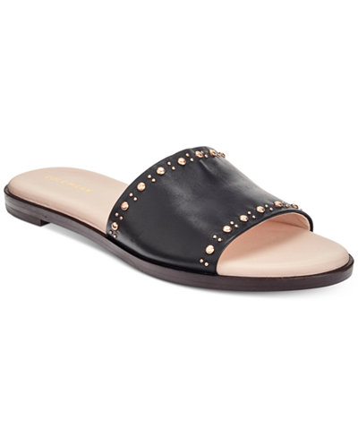 Cole Haan Anica Stud Slip-On Flat Sandals