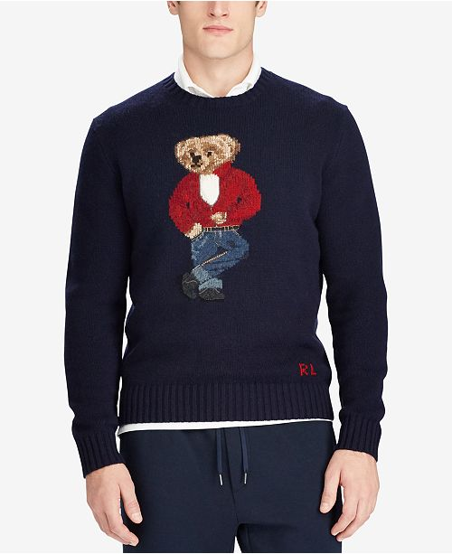 ddd56e0ee0 Polo Ralph Lauren Men s Polo Bear Sweater   Reviews - Sweaters ...