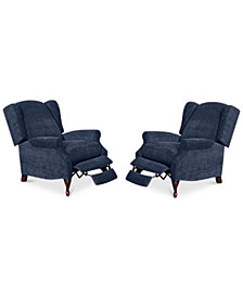 Edie Fabric Recliner Chairs, Set of 2