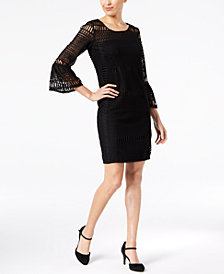 Alfani Crochet Illusion Dress, Created for Macy's