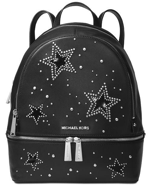 f47d6dd7ed5e Michael Kors Rhea Medium Backpack   Reviews - Handbags   Accessories ...