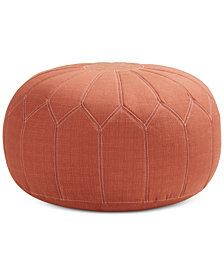 Kelsey Round Pouf Ottoman, Quick Ship