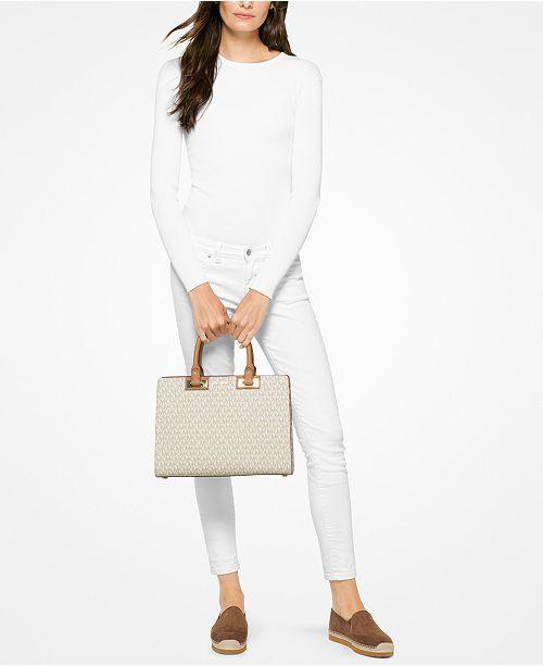 ed7eff2eddb4 Michael Kors Signature Quinn Large Satchel & Reviews - Handbags ...