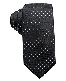Ryan Seacrest Distinction™ Men's Victor Dot Grid Slim Silk Tie, Created for Macy's