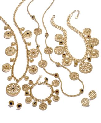 Charter Club GoldTone MultiStone Disc Jewelry Collection