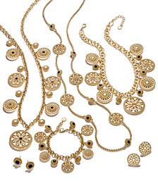 Charter Club Gold-Tone Multi-Stone & Disc Jewelry Collection, Created for Macy's