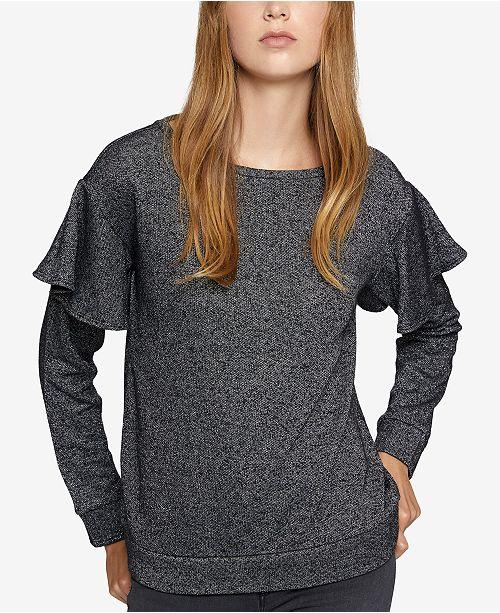 Sanctuary Ruffled Metallic Sweatshirt