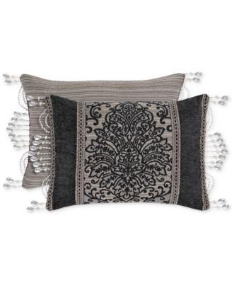 "Raffaella Graphite Boudoir 15"" x 21"" Decorative Pillow"