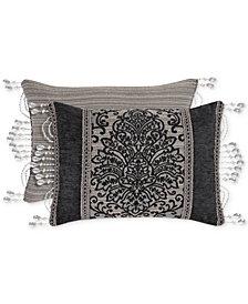 "J Queen New York Raffaella Graphite Boudoir 15"" x 21"" Decorative Pillow"