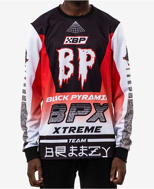 Black Pyramid Men s Graphic Print Long Sleeve T-Shirt - T-Shirts ... 7a2f77479